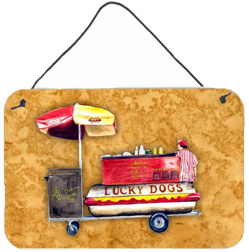 Buy this Hot Dog  Indoor Aluminium Metal Wall or Door Hanging Prints