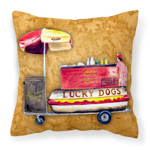Buy this Hot Dog Fabric Decorative Pillow 8781PW1414