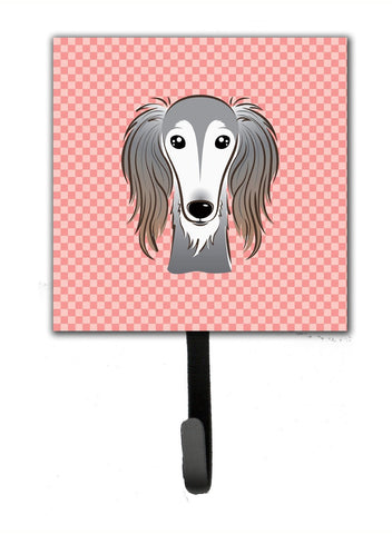 Buy this Checkerboard Pink Saluki Leash or Key Holder BB1229SH4
