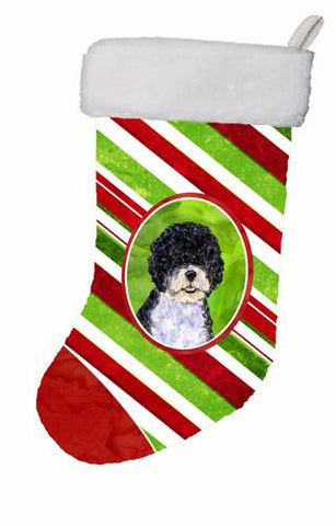 Buy this Portuguese Water Dog Winter Snowflakes Christmas Stocking SS4559