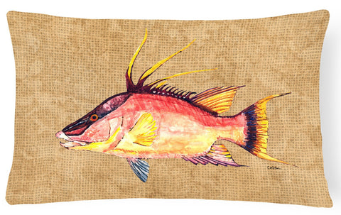 Buy this Hog Snapper   Canvas Fabric Decorative Pillow