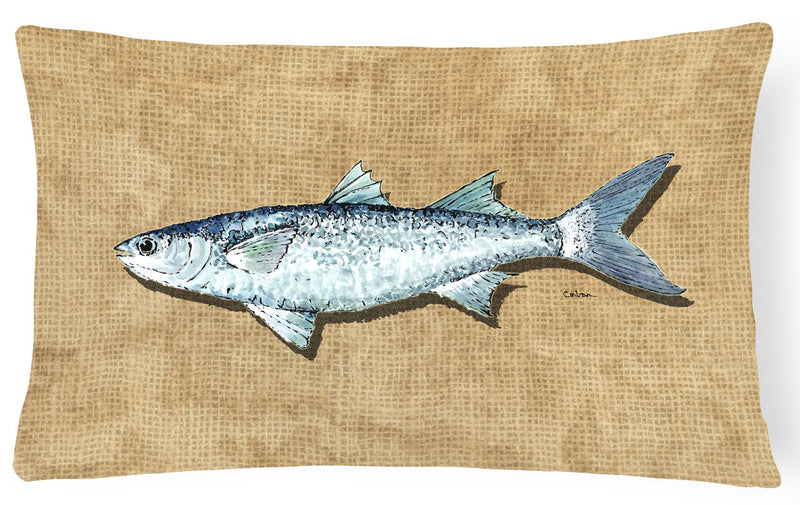 Mullet   Canvas Fabric Decorative Pillow by Caroline's Treasures