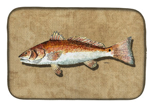 Buy this Red Fish Dish Drying Mat 8807DDM