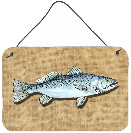 Speckled Trout Aluminium Metal Wall or Door Hanging Prints by Caroline's Treasures
