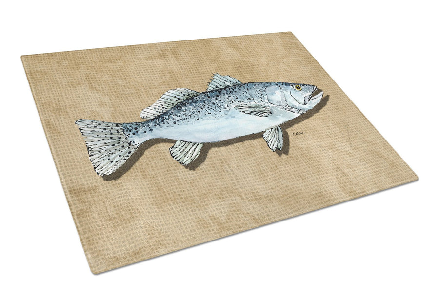 Buy this Speckled Trout Glass Cutting Board Large