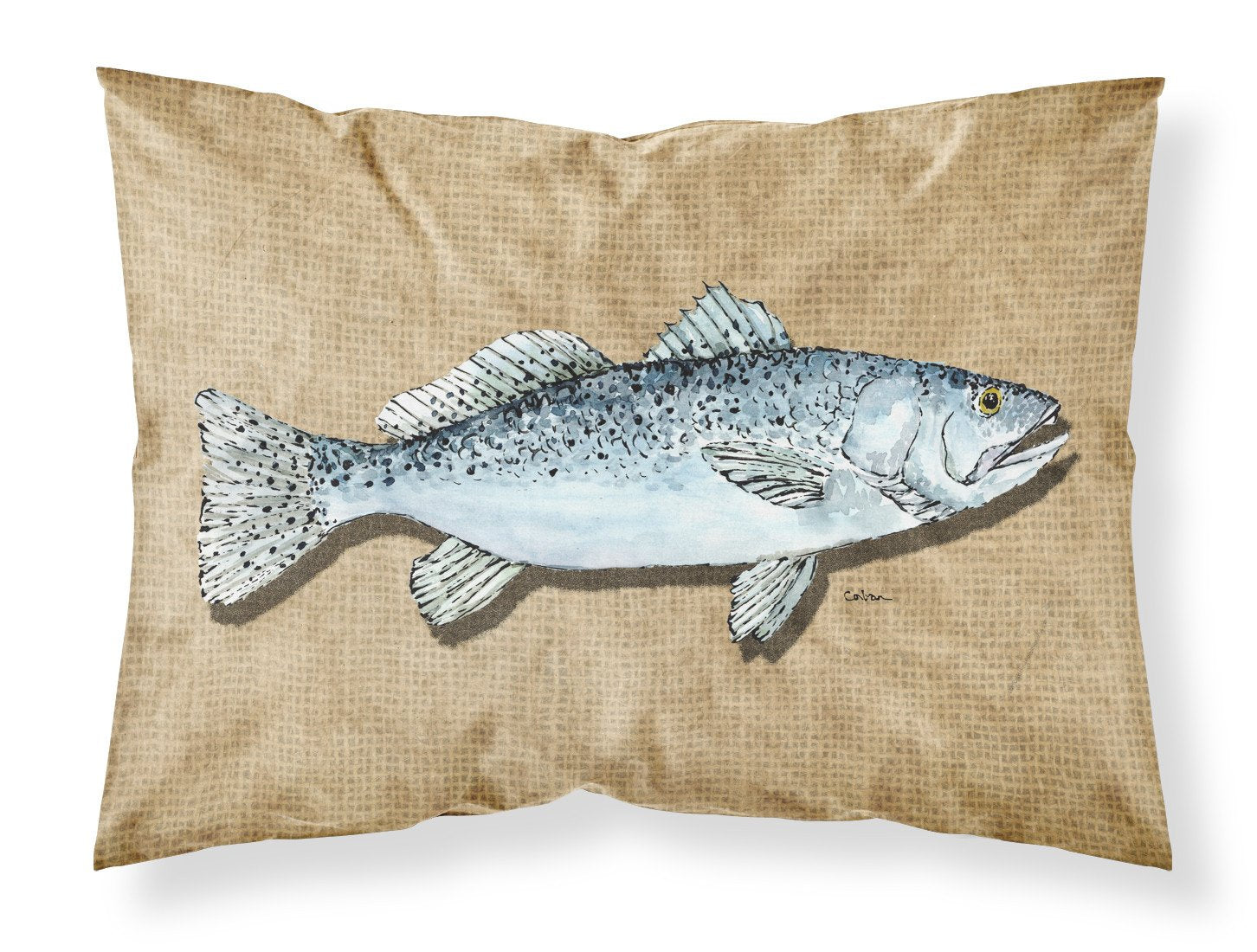 Speckled Trout Moisture wicking Fabric standard pillowcase by Caroline's Treasures