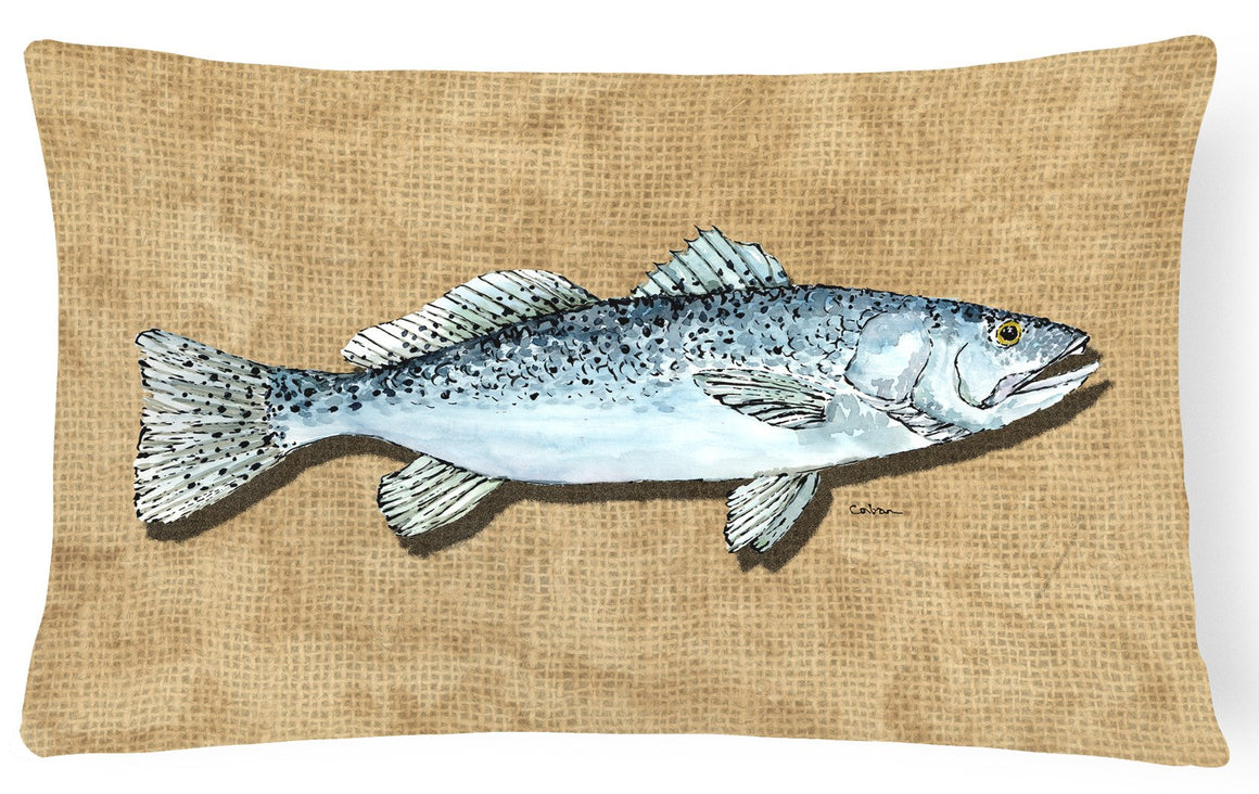 Buy this Speckled Trout   Canvas Fabric Decorative Pillow