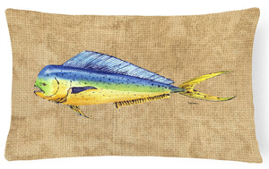 Buy this Dolphin Mahi Mahi   Canvas Fabric Decorative Pillow