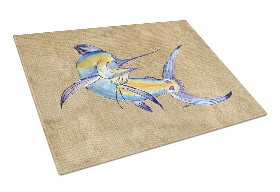 Blue Marlin Glass Cutting Board Large - the-store.com