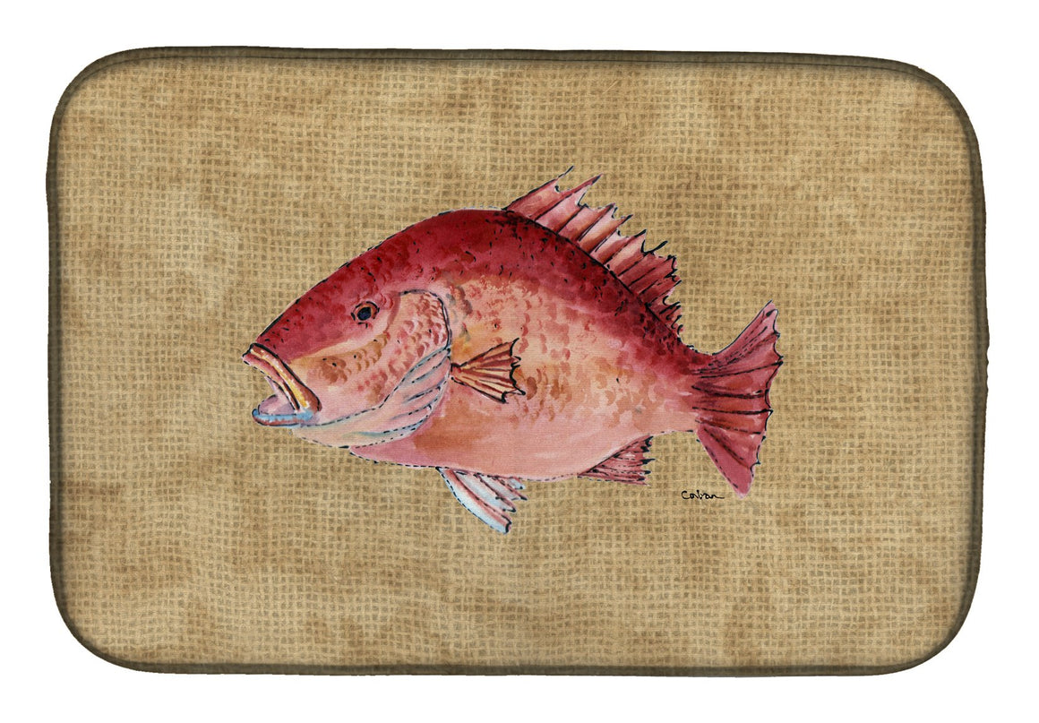 Buy this Strawberry Snapper Dish Drying Mat 8812DDM