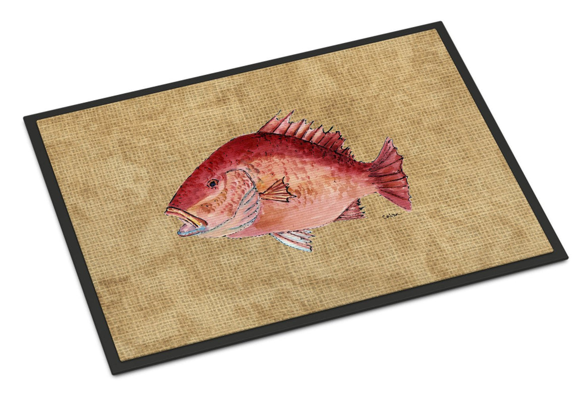 Buy this Strawberry Snapper Indoor or Outdoor Mat 18x27