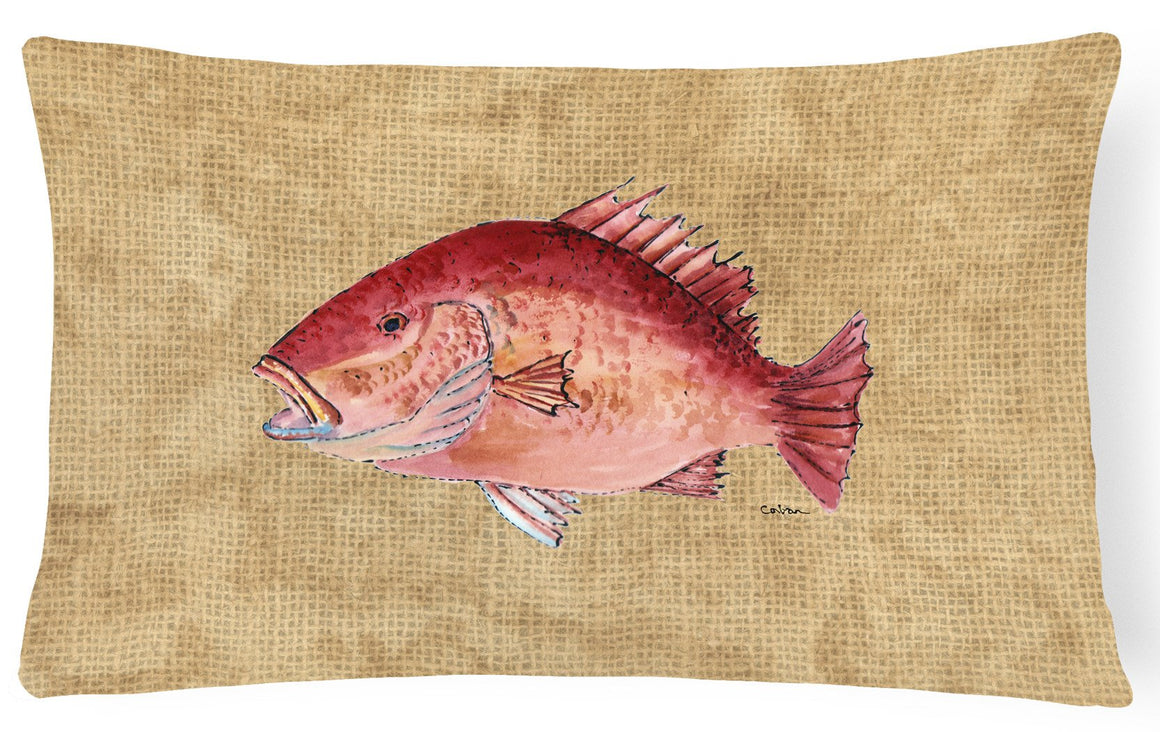 Buy this Strawberry Snapper   Canvas Fabric Decorative Pillow