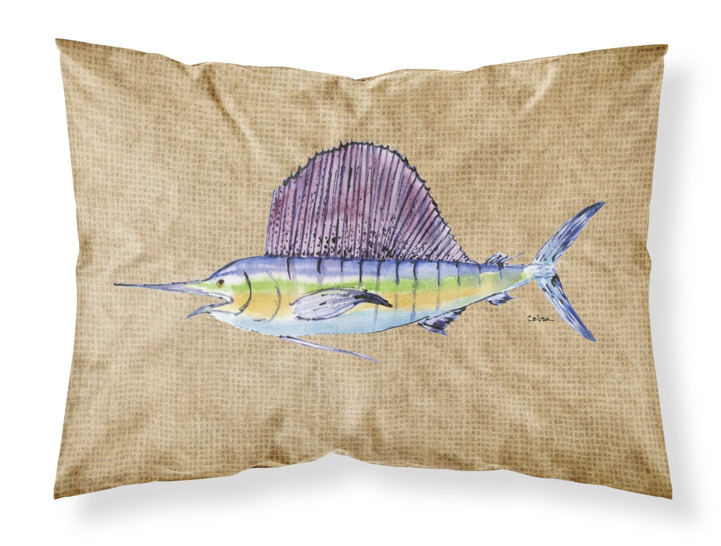 Swordfish Moisture wicking Fabric standard pillowcase by Caroline's Treasures