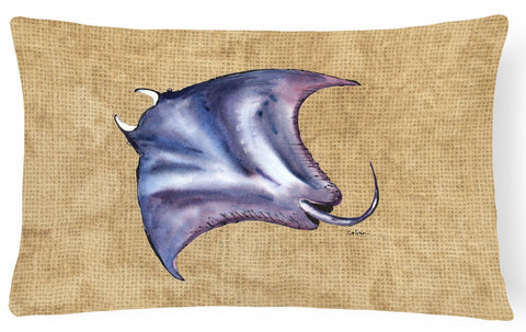 Buy this Stingray   Canvas Fabric Decorative Pillow