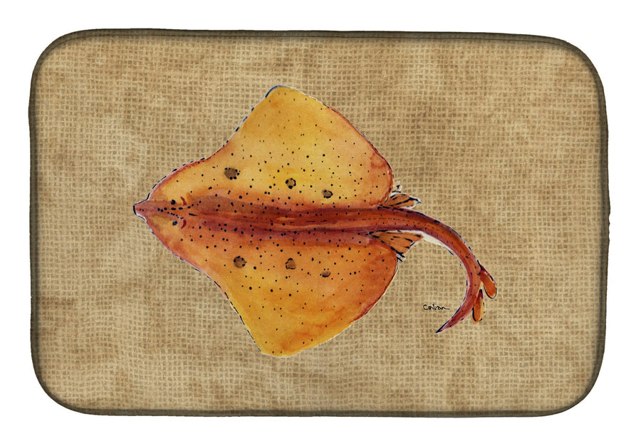Buy this Blonde Ray Stingray Dish Drying Mat 8815DDM