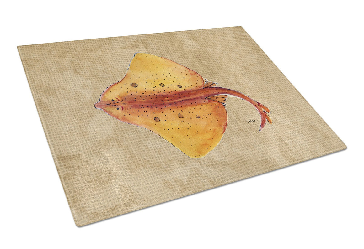 Blonde Ray Stingray Glass Cutting Board Large - the-store.com