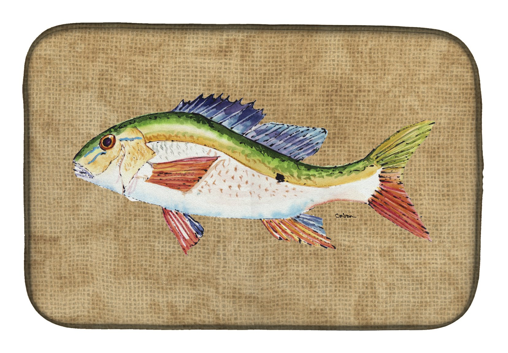 Buy this Rainbow Trout Dish Drying Mat 8816DDM