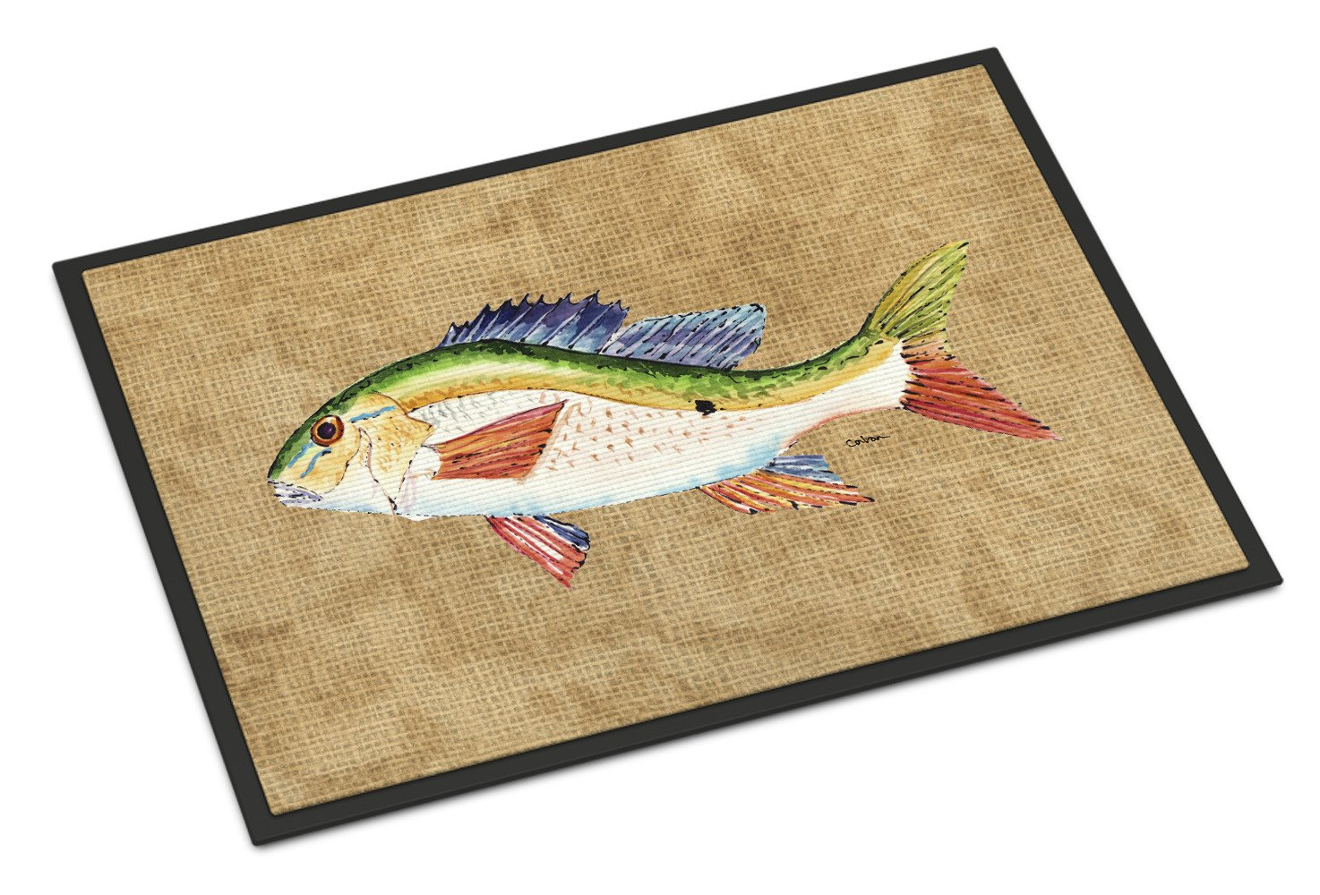 Rainbow Trout Indoor or Outdoor Mat 24x36 by Caroline's Treasures