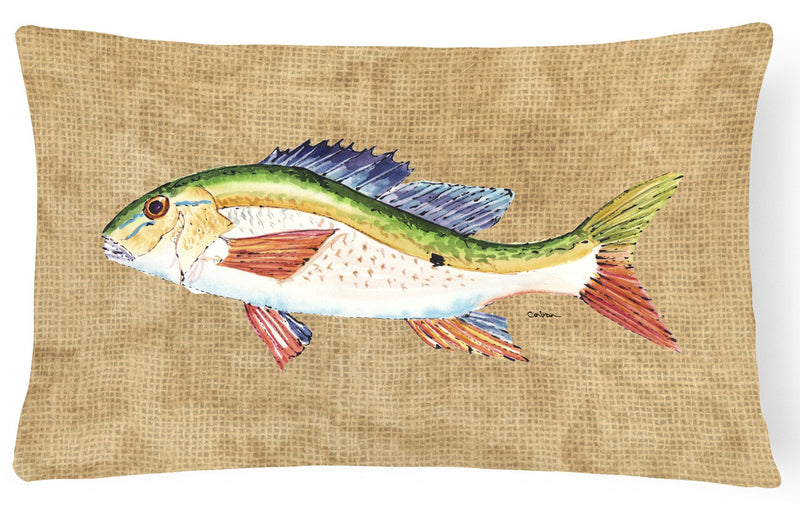 Buy this Rainbow Trout   Canvas Fabric Decorative Pillow