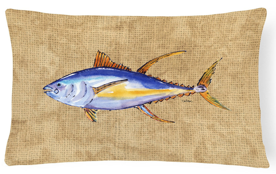 Buy this Tuna Fish   Canvas Fabric Decorative Pillow