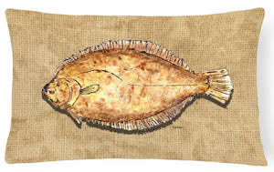 Buy this Flounder   Canvas Fabric Decorative Pillow