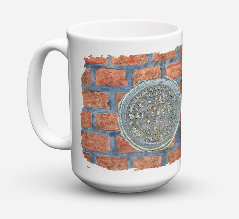 Buy this New Orleans Watermeter on Bricks Dishwasher Safe Microwavable Ceramic Coffee Mug 15 ounce 8829CM15