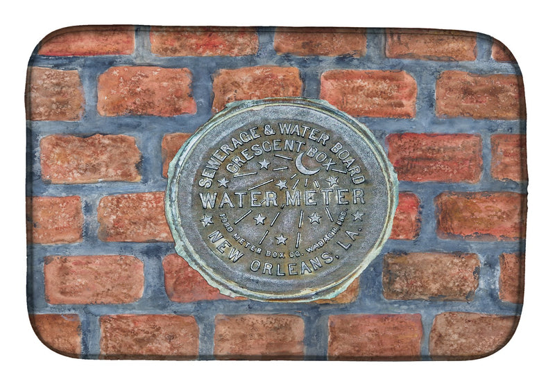 Buy this New Orleans Watermeter on Bricks Dish Drying Mat 8829DDM