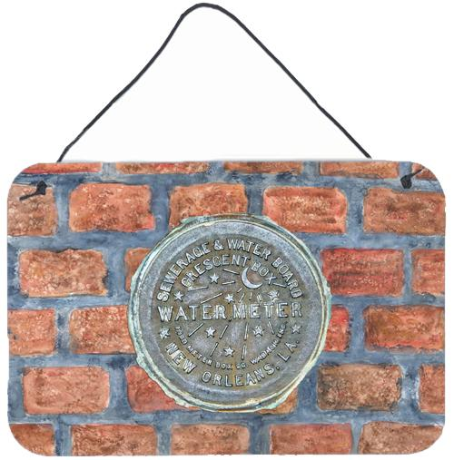 Buy this New Orleans Watermeter on Bricks Aluminium Metal Wall or Door Hanging Prints