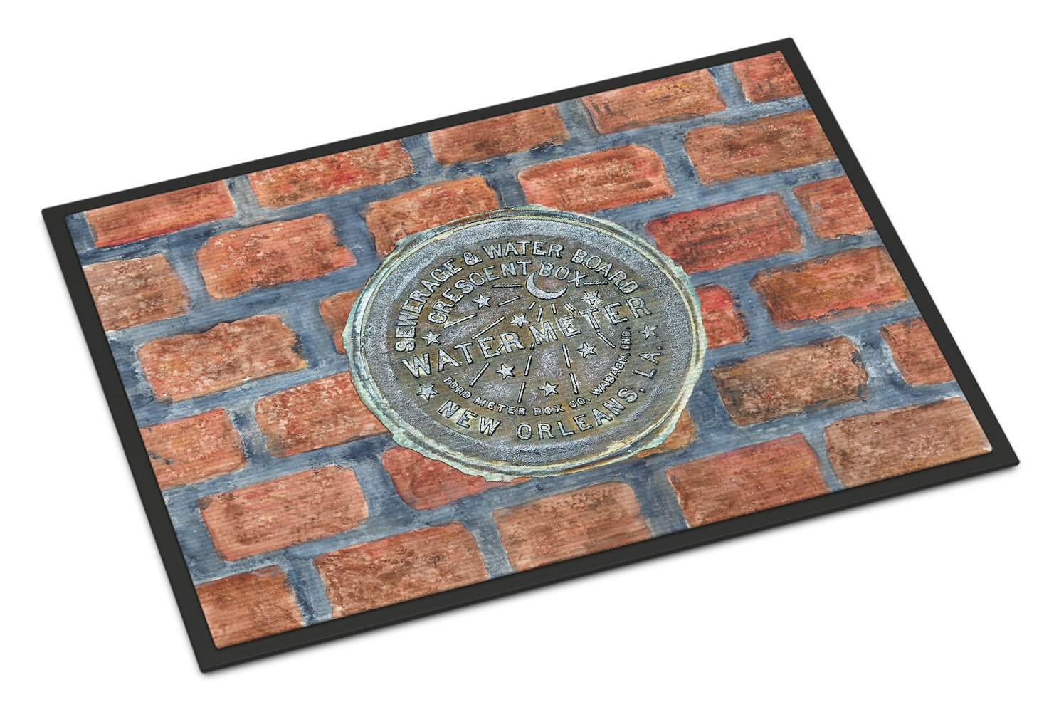 Buy this New Orleans Watermeter on Bricks Indoor or Outdoor Mat 24x36