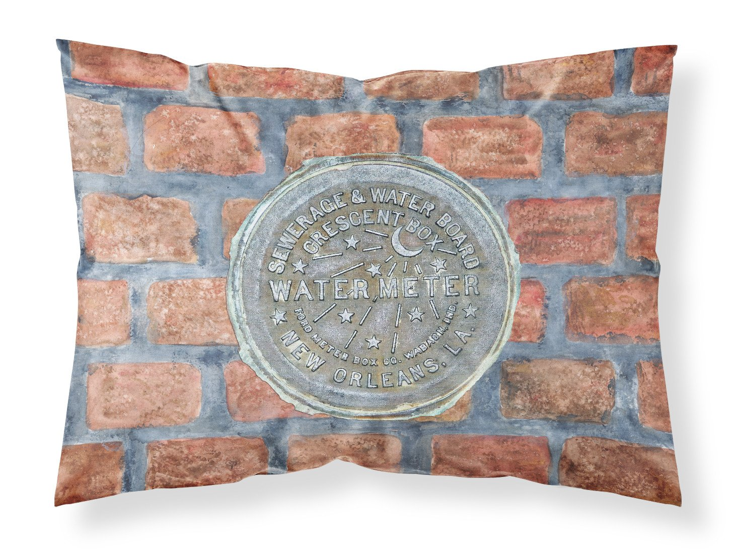 Buy this New Orleans Watermeter on Bricks Moisture wicking Fabric standard pillowcase