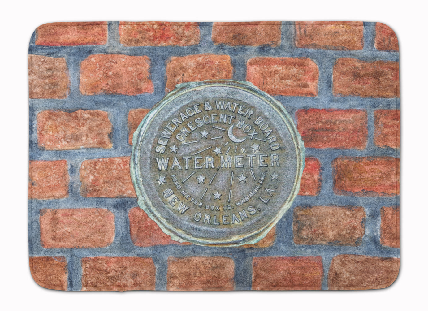 Buy this New Orleans Watermeter on Bricks Machine Washable Memory Foam Mat 8829RUG