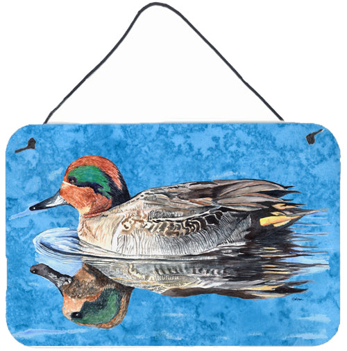 Teal Duck Aluminium Metal Wall or Door Hanging Prints by Caroline's Treasures