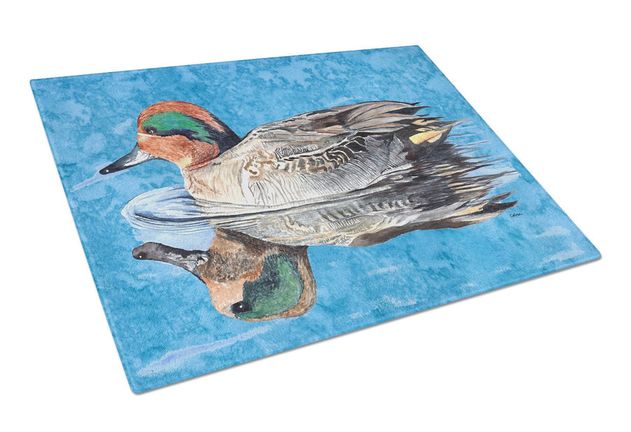 Buy this Teal Duck Glass Cutting Board Large