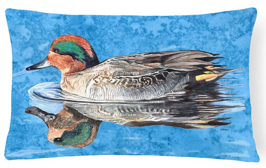 Buy this Teal Duck   Canvas Fabric Decorative Pillow