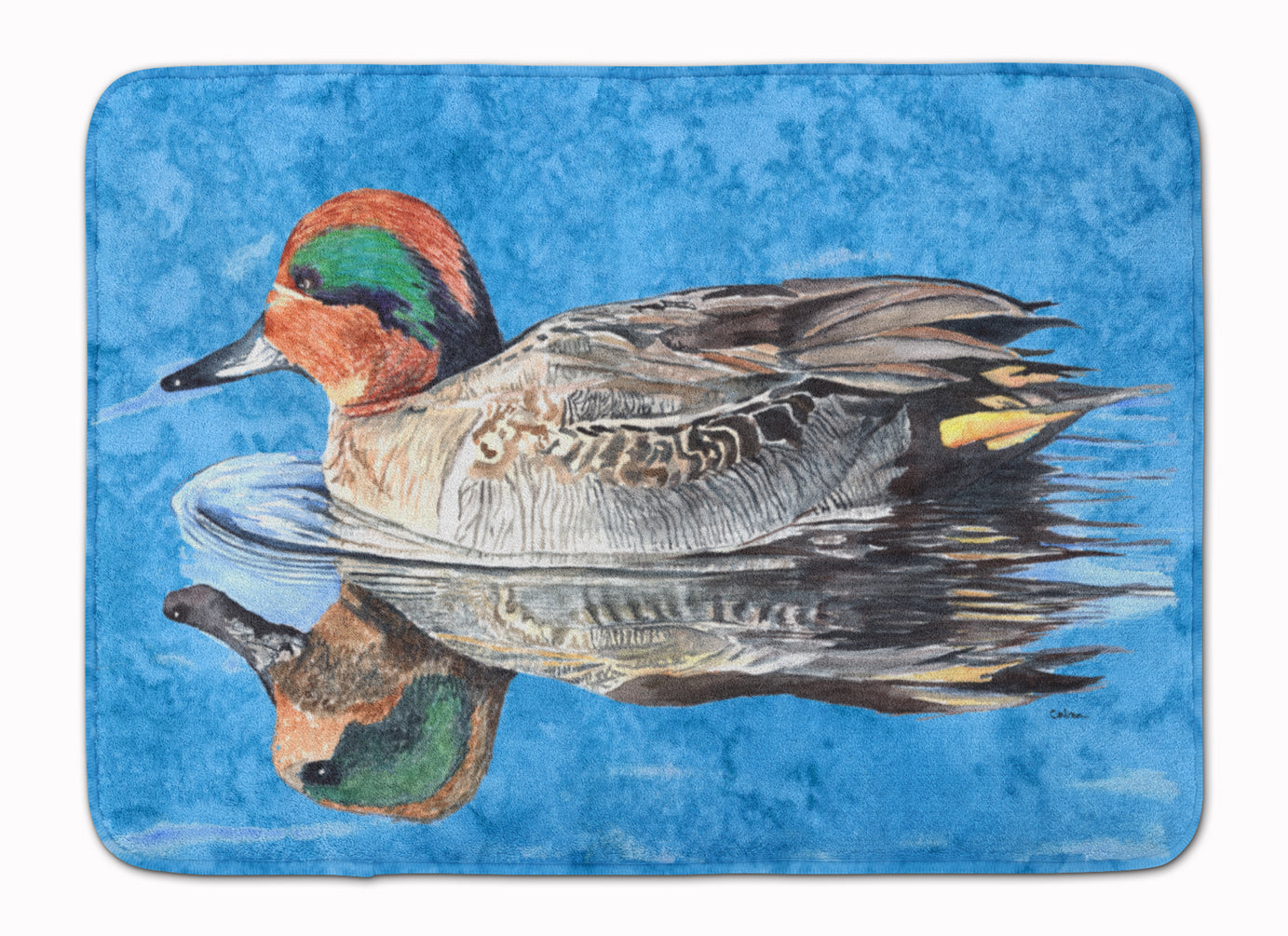 Teal Duck Machine Washable Memory Foam Mat 8830RUG by Caroline's Treasures