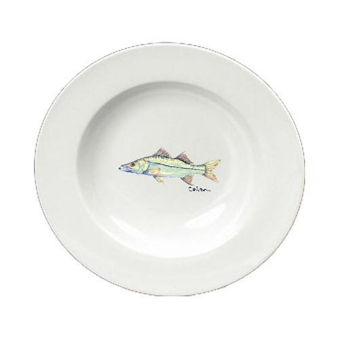 Buy this Fish Snook Ceramic - Bowl Round 8.25 inch 8672-SBW