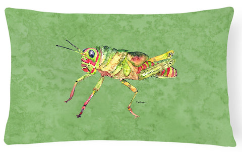 Buy this Grasshopper on Avacado   Canvas Fabric Decorative Pillow
