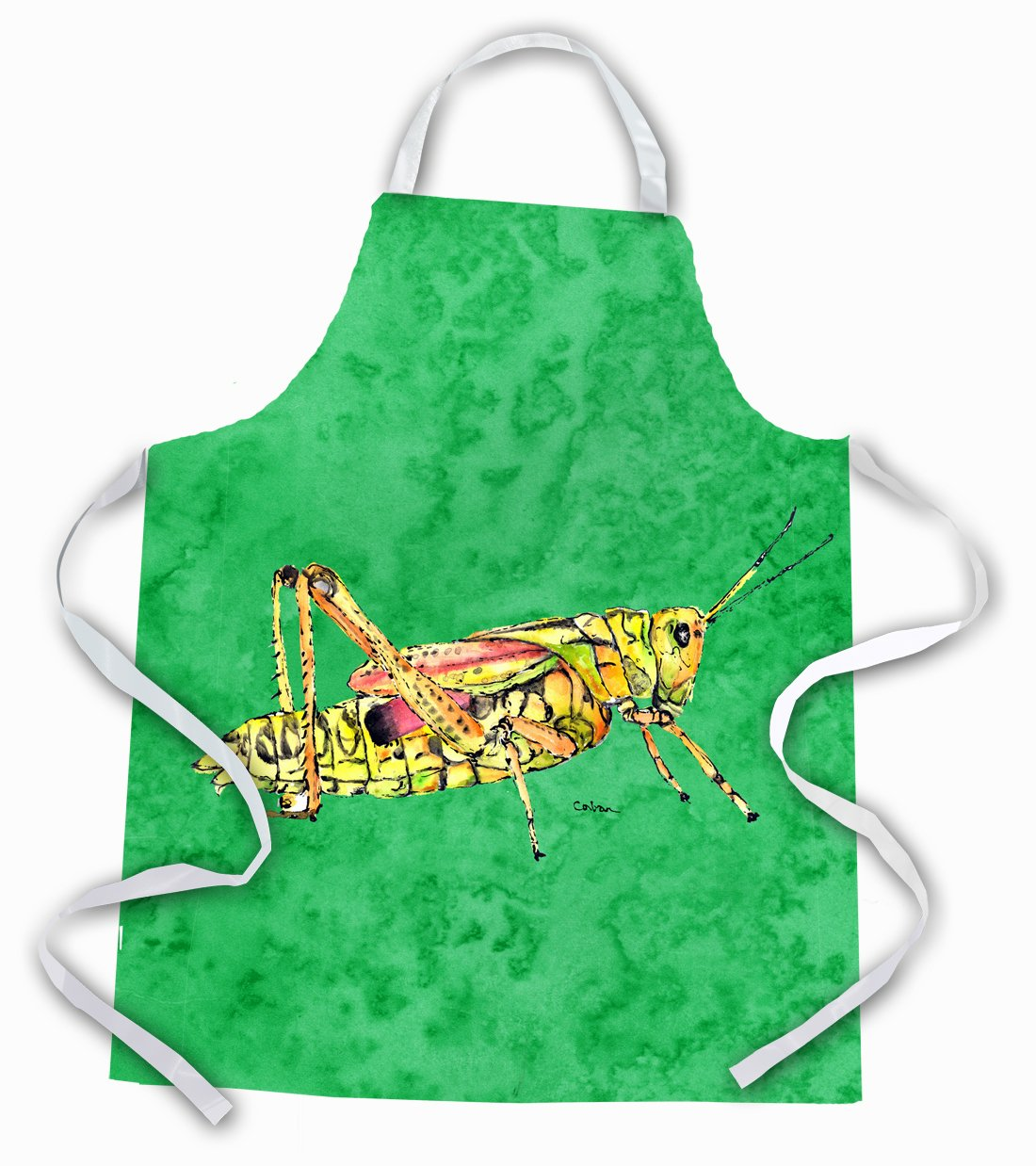 Grasshopper on Green Apron by Caroline's Treasures