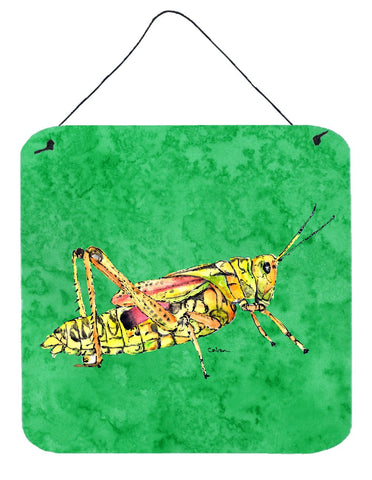 Buy this Grasshopper on Green Aluminium Metal Wall or Door Hanging Prints