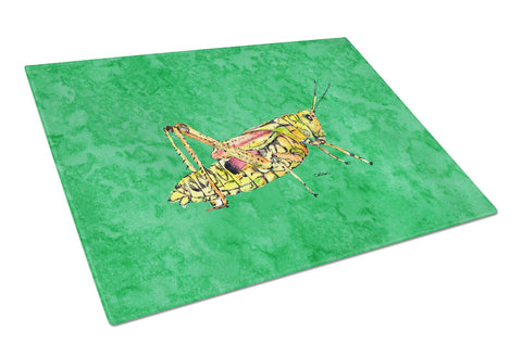 Buy this Grasshopper on Green Glass Cutting Board Large