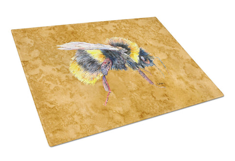 Buy this Bee on Gold Glass Cutting Board Large
