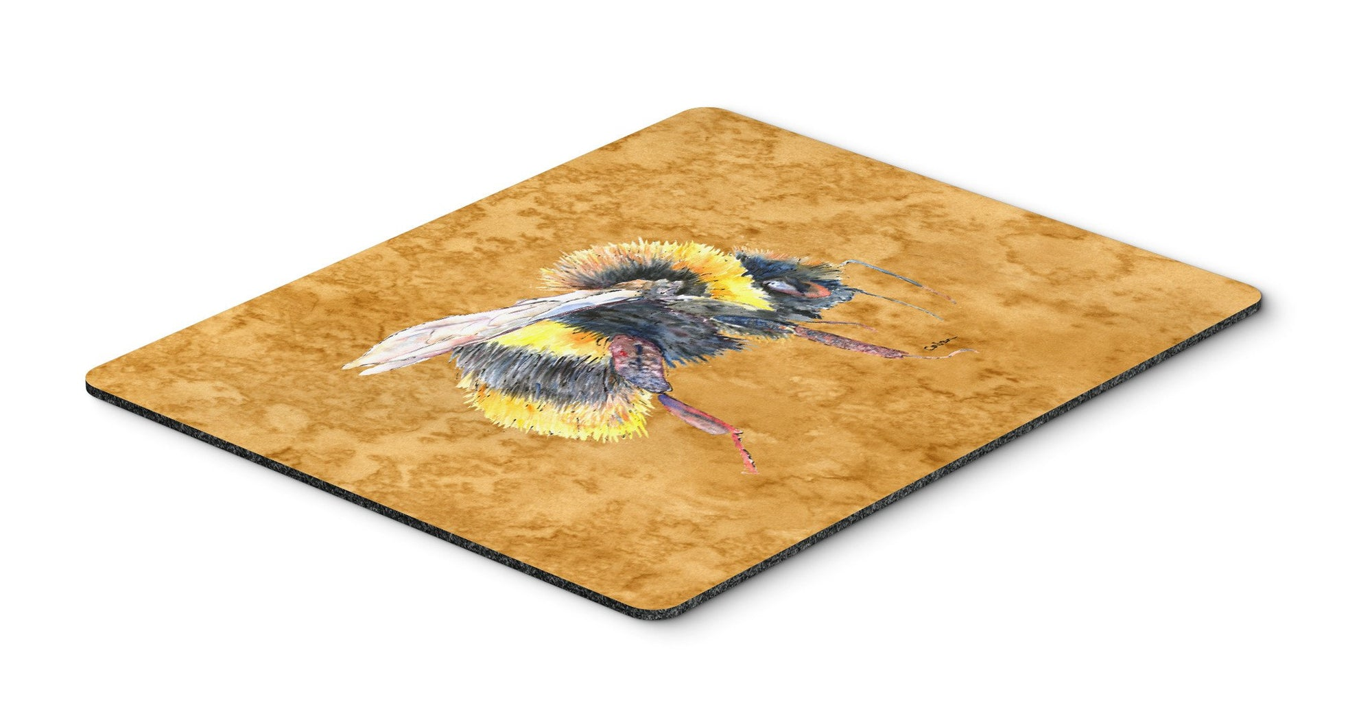 Bee on Gold Mouse Pad, Hot Pad or Trivet by Caroline's Treasures