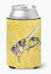 Bee on Yellow Can or Bottle Beverage Insulator Hugger by Caroline's Treasures
