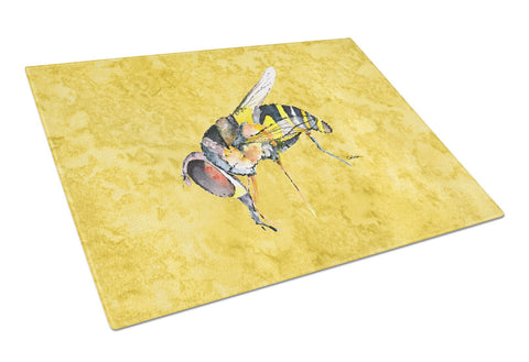 Buy this Bee on Yellow Glass Cutting Board Large