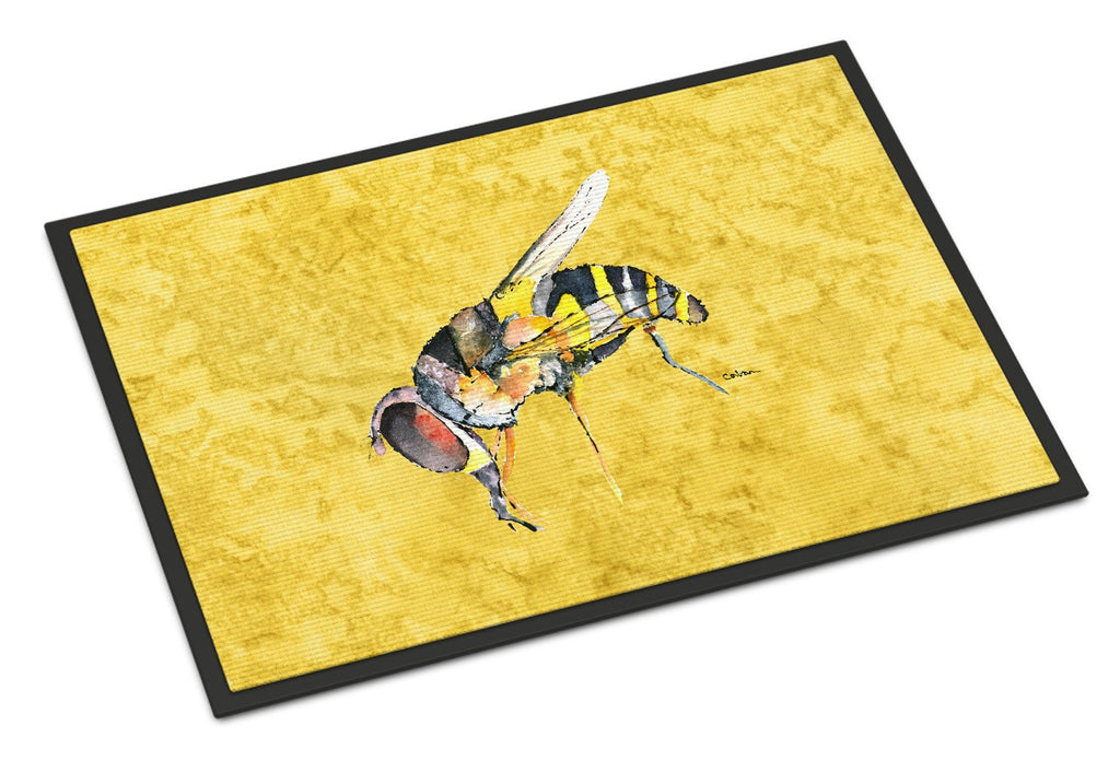 Buy this Bee on Yellow Indoor or Outdoor Mat 18x27 Doormat