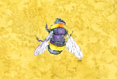Buy this Bee on Yellow Fabric Placemat