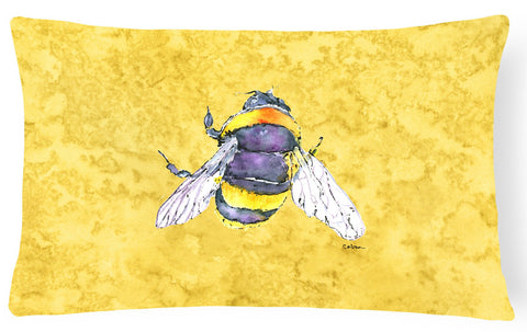 Buy this Bee on Yellow   Canvas Fabric Decorative Pillow