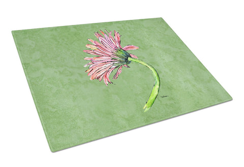 Buy this Gerber Daisy Pink Glass Cutting Board Large