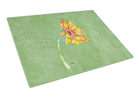 Buy this Gerber Daisy Orange Glass Cutting Board Large