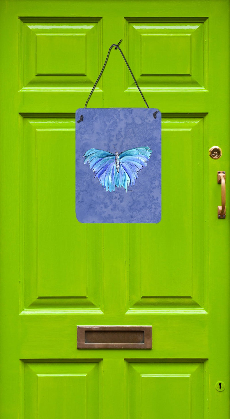 Buy this Butterfly on Slate Blue Aluminium Metal Wall or Door Hanging Prints